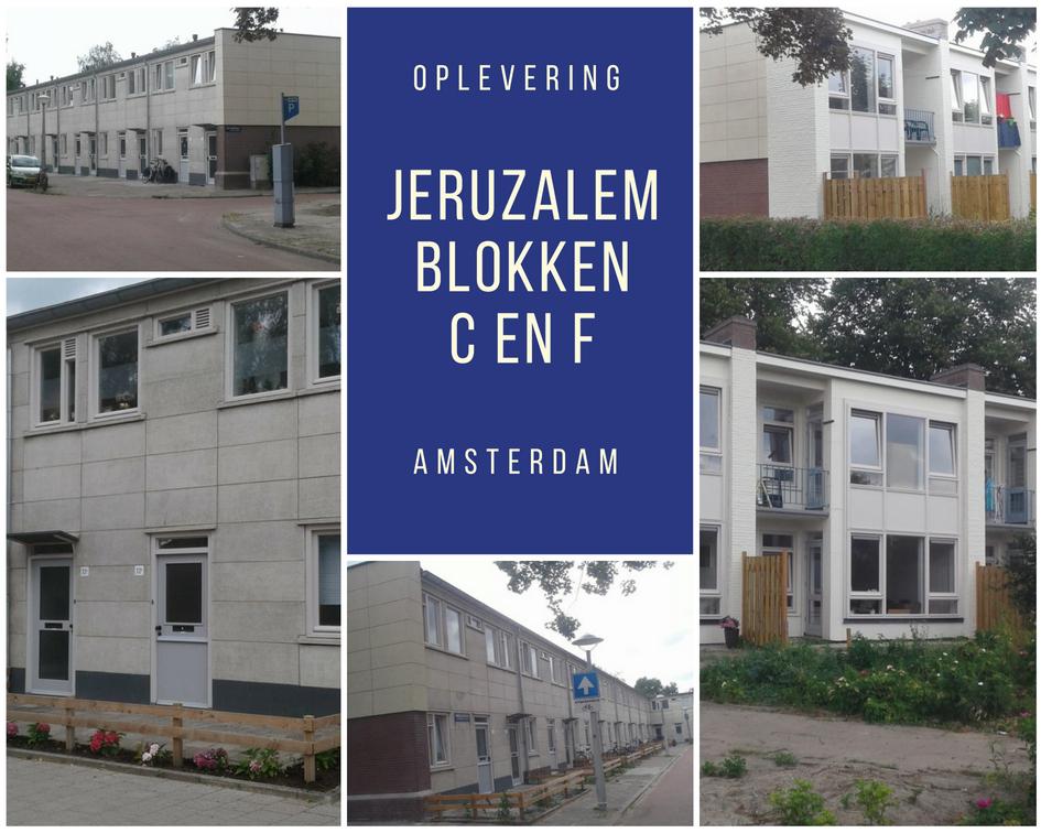 Oplevering Blokken C En F Jeruzalem Amsterdam