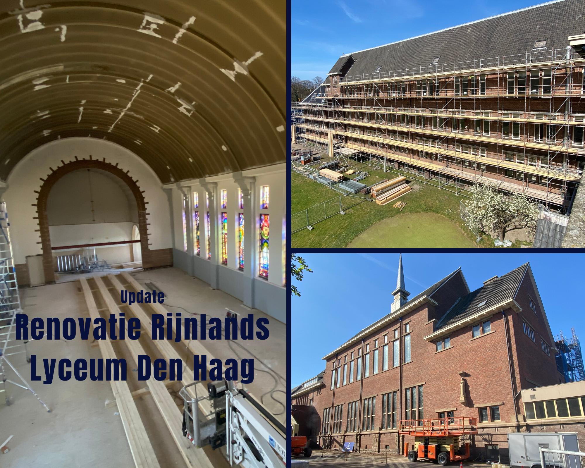Update Renovatie Rijnlands Lyceum Den Haag
